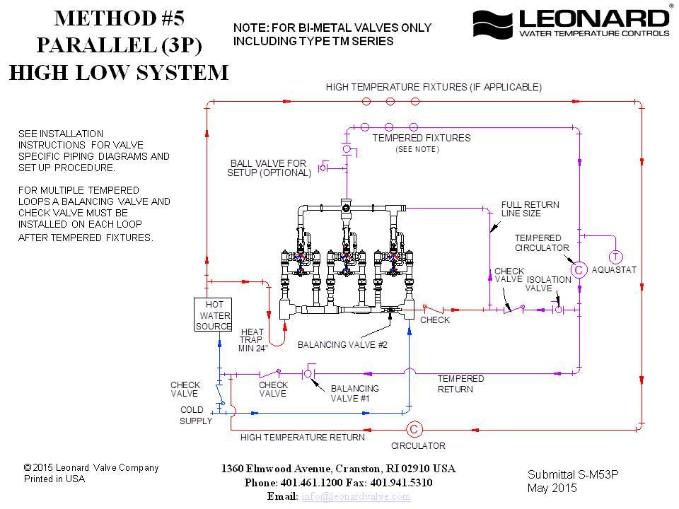 piping diagrams  leonard valve